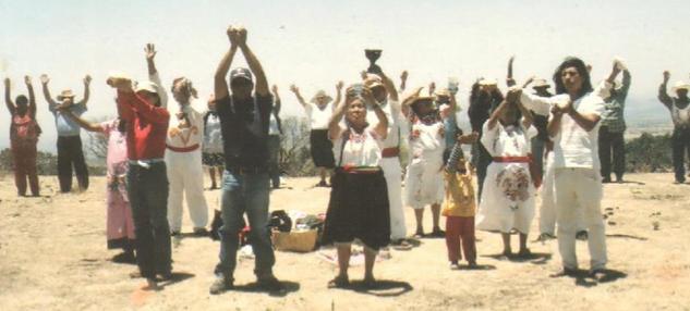 Ceremonia con rituales para Tlaloc solicitando lluvias abundantes y fertilidad para todas las actividades productivas y reproductivas.